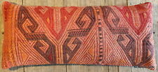 (30*70cm, 12*27inch) Vintage handmade Kilim Lumbar cover Dusty Pink brocade #1