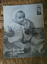 Original1950's Knitting Pattern Babies 3 - 9 month old Pram Set