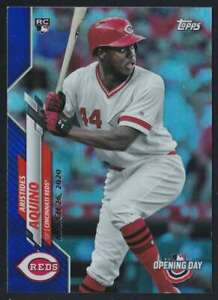2020 TOPPS OPENING DAY BLUE FOIL ARISTIDES AQUINO RC #147