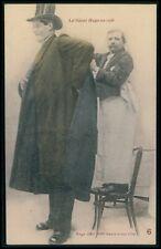 Circus giant tall man Hugo original old 1910s postcard