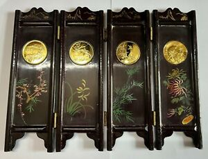 1980 Shanghai mint Plum,Orchid,Bamboo,Chrysanthemum medal with hand drawn screen