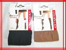 GOLDEN LADY 35 - 42  NEUF 2 paires Chaussettes hauteur genou  beige noir