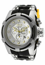 Invicta Reserve 52mm Bolt Zeus Swiss Made Yellow Accent Chrono Poly Strap 14073