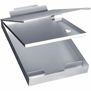 Metal Clipboard with Storage Box Letter Size Aluminum Clipboards Metal Binder