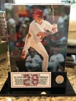 St Louis Cardinals Colby Rasmus Game Used Bat Piece Framed 8x10 /25 MLB Cert