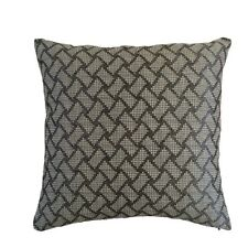 "Satin Brick Pattern 18x18"" Gray/White Decorative/Throw Pillow Case/Cushion Cover"