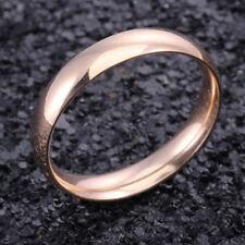 POPULAR UNISEX STAINLESS STEEL  ROSE GOLD  WEDDING BAND STYLE RING,SIZES  6 - 13