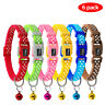 6/18/24pcs Polka Dots Pet Puppy Cat Kitten Small Dog  Adjustable Collars & Bell