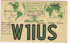 QSL Card ESSEX CONN. 1935 USA Funk Karte Radio W1IUS    ( 80395