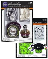 2 Wilton Cupcake Spider Skeleton Cup Cake Decorating Kit 24Sets Halloween Zombie
