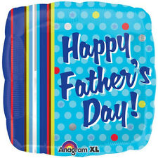 "FATHER'S DAY BALLOON 18"" SQUARE FATHER'S DAY DOTS & STRIPES ANAGRAM FOIL BALLOON"