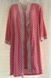 Jones New York Women's 2 Piece Size M Pink Lingerie Pajama Set