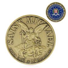 Saint Michael Patron Stint of Law Enforcement Gold Plated Commemorative Coin Art