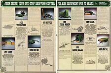 1982 John Deere 2420 Windrower 337 510 Baler & Hay Equipment 2 Page Tractor Ad