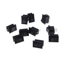 10pcs 2PIN ON/OFF Rectangle Rocker Switch Car Dashboard Dash Boat SPST 6A/250V//