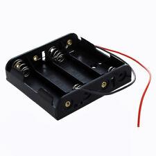 10x(Contenitore per 4 Stilo AA Porta Batterie in Plastica con Cavi