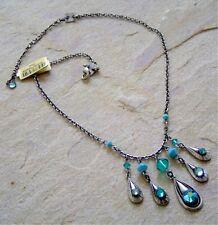 KONPLOTT Kette Teardrops türkis / antique silver