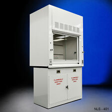 Chemical 4'  Fume Hood WITH Flammable Base Storage Cabinets -