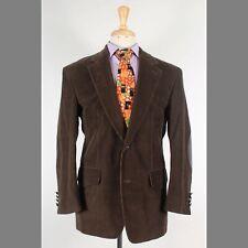 J.G. Hook 38S Brown Solid Corduroy Two Button Mens Sport Coat Blazer Jacket
