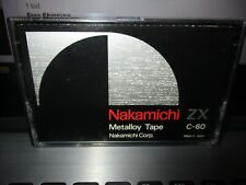 NAKAMICHI ZX C-60 Metalloy Cassette Tape Made In Japan Used/Opened