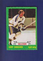 Gary Sabourin 1973-74 O-PEE-CHEE OPC Hockey #168 (EXMT) St. Louis Blues