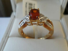 *ULTRA RARE 9k Clinohumite & White Topaz yellow gold ring GEM QUALITY*,