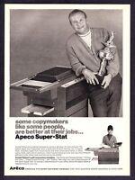 1968 Golf Legend Arnold Palmer with Trophy photo Apeco Copier promo print ad