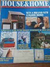 Vtg 1983 HOUSE & HOME DIY & HOME IMPROVEMENT Magazine Issue No 1 Illustrated