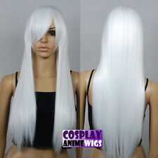70cm White Heat Styleable Long Cosplay Wigs 76_1001