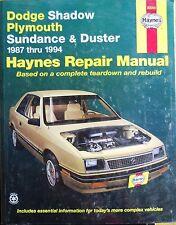 Repair Manual - Dodge Shadow, Plymouth, Sundance and Duster (US Ausgabe)