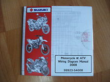 2008 Suzuki Motorcycle & Atv Wiring Diagram Manuals on Cd Oem *Sealed*