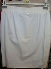 ESCADA by MARGARETHA LEY White Cotton Pencil SKIRT Jupe 38 See STORE for Jacket