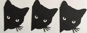 Cat silhouette Die Cuts Cats Animals  feline Pets Black Cat Silhouette Heads X 8