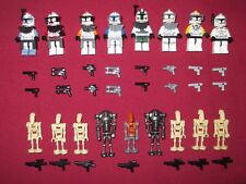 LEGO Star Wars Minifigures LOT Commander Cody,Gree,Rex,Wolfe,Fox,Horn +droids