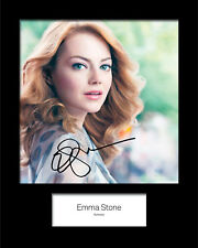 EMMA STONE #2 Signed 10x8 Mounted Photo (REPRINT) - FREE DELIVERY