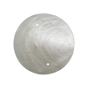 Vie Naturals Capiz Shell Discs 5cm Diameter With 2 holes - 45 Pcs