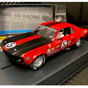 Pioneer P112 Red Ford Mustang T/A #5 Jim West Slot Car 1/32 Scalextric DPR