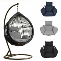 Indoor/Outdoor Swing Chair Cushion Mat Sofa Hanging Egg Chair Seat Pad W/Pillow