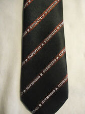 """1986 Applause Greeting Garb Father's Day Blue Maroon Striped SuperDad Tie 53"""""""