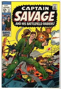 Captain Savage and His Battlefield Raiders #9, Very Fine Condition