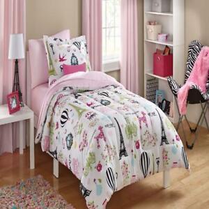 Mainstays Kids Paris Bed-in-a-Bag Coordinating Bedding Set