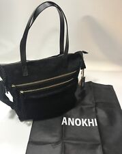 ANOKHI Annapurna Black Genuine Leather Shoulder Bag / Handbag