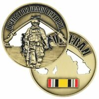 Vet Baked Enamel Military Challenge Coin Operation Iraqi Freedom 2004 Veteran