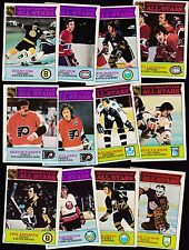 1975 OPC LOT of 12 NHL ALL STARS NM- o-pee-chee POTVIN ORR LAFLEUR PARENT CLARKE