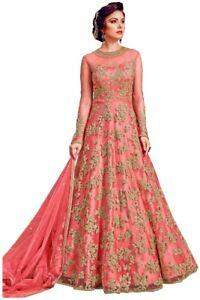 Indian Wedding Party Wear Dress Bollywood Designer Salwar Anarkali New Long Gown