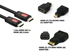 1080P HDMI Cable & HDMI to Mini & Micro Adapter Set for Android Tablet PC TV