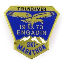 INSIGNE BROCHE SKI MARATHON TEILNEHMER PARTICIPANT 1973 ENGADIN ENGADINE SUISSE