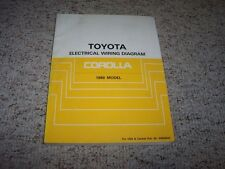 1989 Toyota Corolla Electrical Wiring Diagram Manual DX LE SR5 GTS 1.6L 4Cyl