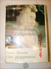 VIAGGI ORIENTE: Fosco Maraini, ORE GIAPPONESI 1957 1a ediz. Illustrato GIAPPONE