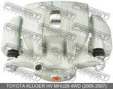 Front Left Brake Caliper Assembly For Toyota Kluger Hv Mhu28 4Wd (2005-2007)